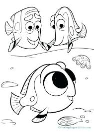 Nemo Coloring Pages Finding Coloring Page Finding Characters