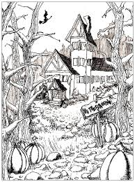 Small Picture Adult Halloween Coloring Pages Fun for Halloween