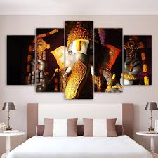wall art pictures home living room decor ganesha poster frame 5 piece elephant ganesh india religion on wall art room decor ideas with wall art pictures home living room decor ganesha poster frame 5