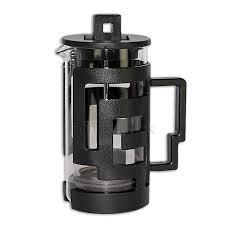 tiamo french press glass 0 3l black