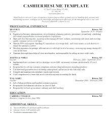 Head Cashier Resume Sample