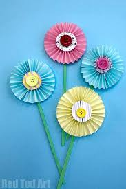 Flower Paper Craft How To Make Paper Flowers Step By Step With Pictures Red