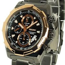 seiko lord mens chronograph tachymeter gun metal black face seiko lord mens chronograph tachymeter gun metal black face polished bronze tone quartz 7t92 sndd54p1