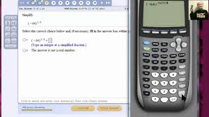 using the ti 84 to simplify rational exponent problems