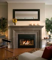 General: Modern Fireplace Brick And Sandstone Look - Fireplace Mantels