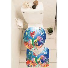 Item 2 The Little Mermaid Ariel Set Of 3 Bathroom Rug Mat Toilet Lid Cover  Y70 W0048  The Little Mermaid Ariel Set Of 3 Bathroom Rug Mat Toilet Lid  Cover ...