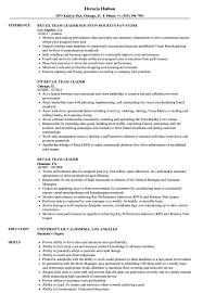 Resume Of Team Leader Retail Team Leader Resume Samples Velvet Jobs