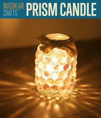 Prism Candle made from a Mason Jar Craft