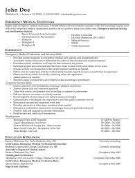 Emt Resume Emt Resume Fresh Skills For Resume Resume Template Ideas