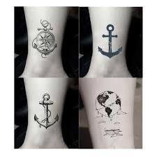 морской пиратский якорь цветок временные татуировки боди арт рука