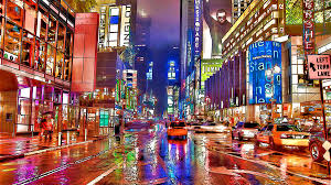new painting times square at night in new york city by jeelan clark