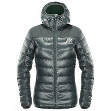 Haglöfs Womens Bivvy Down Hood Down Jacket Mineral Xs