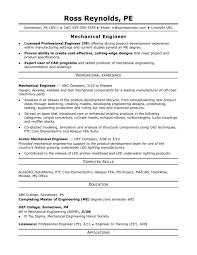 Modern Engineer Resume Template Download Word Format Cv Mechanical Engineer
