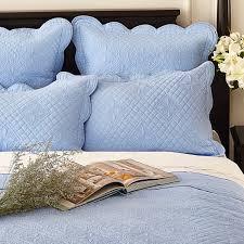 blue pillow shams.  Shams Sage Garden Luxury Pure Cotton Quilted Light Blue Pillow Sham On Shams O