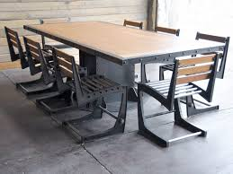 industrial kitchen table furniture. Brilliant Table Bedding Appealing Industrial Dining Room Set 7 Tables Inside Awesome  Download Vintage Table Gen4congress On Industrial To Kitchen Furniture S