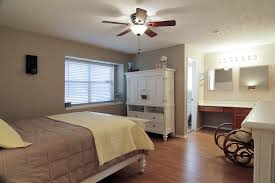 Master Bedroom Ceiling Fans With Lights And White Furniture
