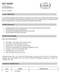 Ccna Resume Format Resume 1 Resume Template 2 Mcse Ccna Resume