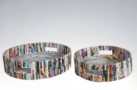 recycled paper furniture. recycled paper tray with handle furniture 4