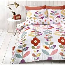Pin by fluffy Panda on Bedding & soft furnishings | Pinterest ... & Just Contempo Retro Floral Duvet Cover Set, Single, Multicolour Adamdwight.com