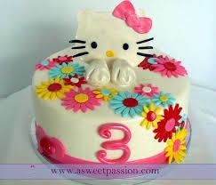 hello kitty birthday cake for baby girl. Wonderful Cake Hello Kitty Birthday Cake In For Baby Girl