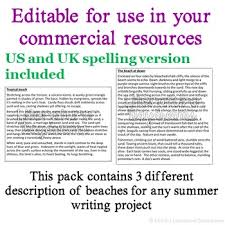 texts for commercial use summer descriptive writing pack  fiction texts for commercial use summer descriptive writing pack 1