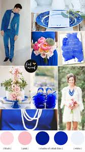 Cobalt blue and pink wedding | Summer wedding colors, Summer ...