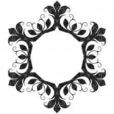 black filigree frame