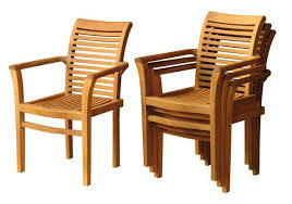 coniston teak stacking chair