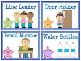 Classroom Monitors Chart Star Helpers Classroom Jobs Display Clip Chart