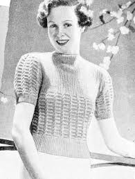 Vintage Knitting Patterns Stunning The Vintage Pattern Files 48's Knitting Vest And Panties