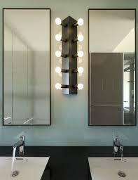 funky bathroom lighting. Simple Small Taiwanese Apartment Design With Funky Twist Interior : Creative Bathroom Lighting Between Vanity In