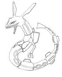 Legendary Pokemon Coloring Pages Rayquaza Coloring Page Free