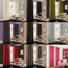 living room curtains. Luxury Curtains Living Room Bedroom All Size Plain Faux Silk Eyelet Door E