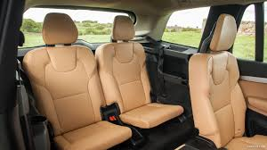 2016 volvo xc90 uk spec amber leather interior rear seats wallpaper