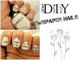 Newspaper Nail Art With Perfume - YouTube