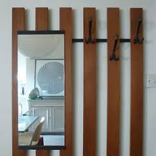 Wall Mounted Coat Rack With Mirror Modernist Teak Wall Mounted Coat Hook Rack Mirror Shelf 100s 100s 10