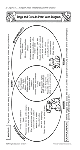 dogs and cats as pets venn diagram teachervision