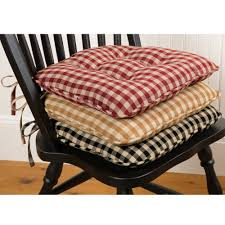 chair cushions with ties. Tufted Chair Cushions With Ties Wicker Replacement Stool Seat Pad Outdoor Rocking