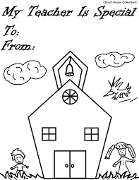 Teacher Appreciation Coloring Pages Page Of A School Best
