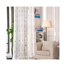 Korean White Embroidered Voile Curtains For Bedroom Window Curtain ...