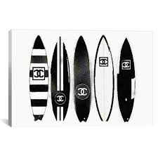 icanvas surf black white by amanda greenwood canvas wall art