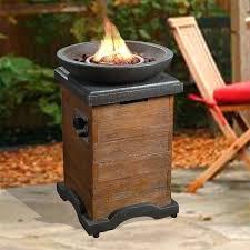 propane fire column chisholm 27 square lp outdoor wood trim gas