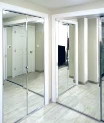 T Bifold Closet Doors With Glass Mirrored View Larger Image  Sliding Mirror Installation Modern