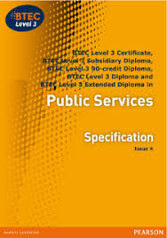 btec nationals public services pearson qualifications btec level 3 public services specification