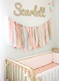 Coral, Mint, and Gold Vintage Style: Scarlett\u0027s Nursery Reveal ...