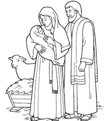 Holy Family Catholic Coloring Page - right click to download image ...