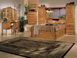 stunning country style master bedroom ideas with brown wooden bedroom furniture plus persian area rug also classic vanity plus glass flower vase