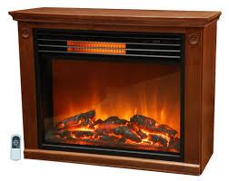 lifesmart large room infrared quartz fireplace in burnished oak finish