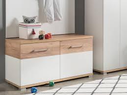 shoe storage hallway furniture. Germania Topix Modern Shoe Bench In White Matt \u0026 Light Oak Storage Hallway Furniture L