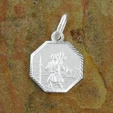 st christopher medal diamond cut
